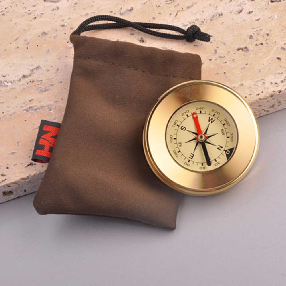 Traditional Compass Copper Metal Shell Direction Guide Antique Camping Hiking Round new brandnew brand(China (Mainland))