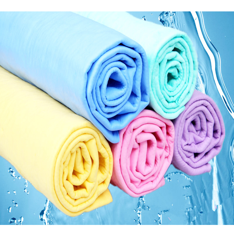 Car Cleaning Wash Towel Cham Synthetic Chamois Cloth in Multi Colors 66*43*0.2cm for household use/keep hair dry Free Shipping(China (Mainland))