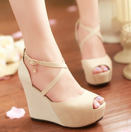 Dropshipping Newest Fashion Strappy Comfortable Platform Wedge Sandals Womens Open Toe Sandal Large Size 34-43<br><br>Aliexpress