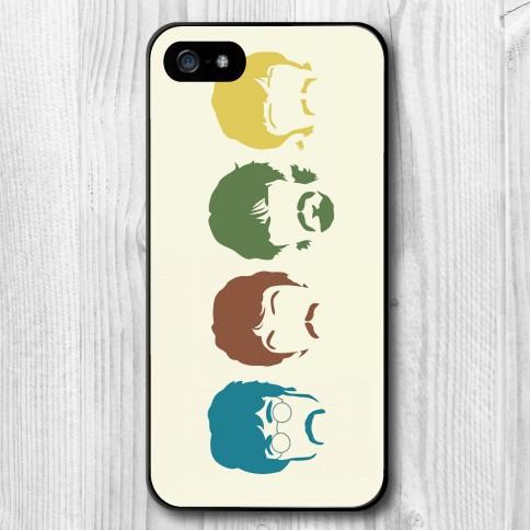 2015 Beatles Cartoon Avatar Hard Case Cove iphone 4 4s 5 5s 5c 6 6plus - san shao ye store
