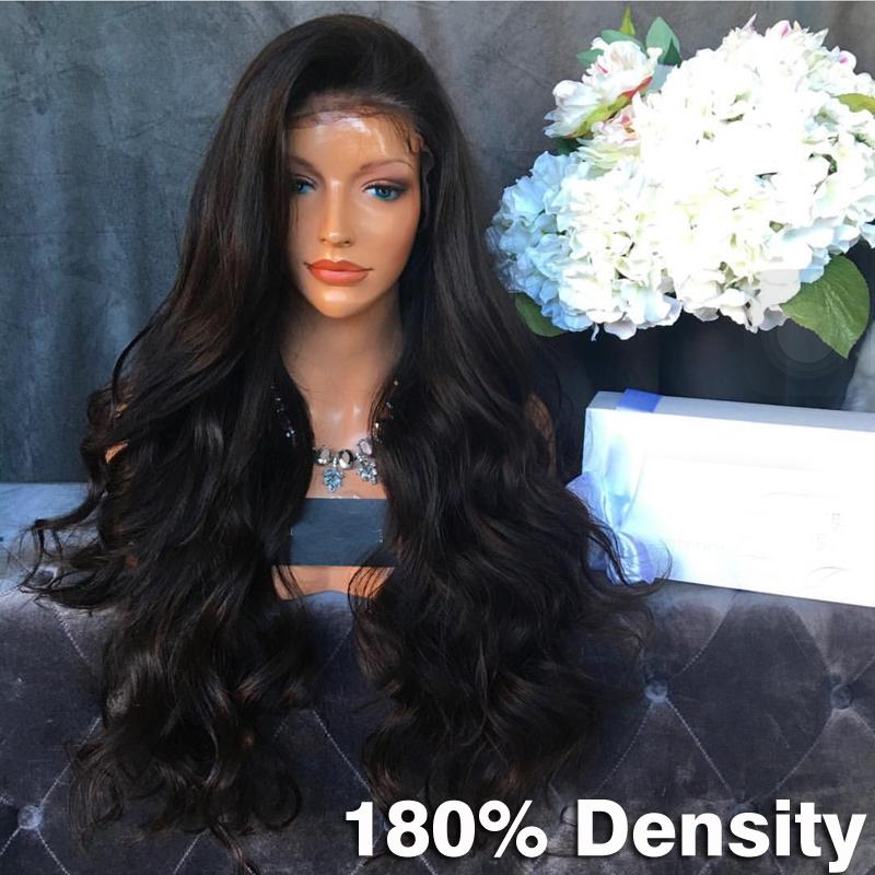 Heavy hair wigs 180 Density Human Hair Full Lace Wigs Body wave Brazilian virgin Human Hair lace front wigs for black women