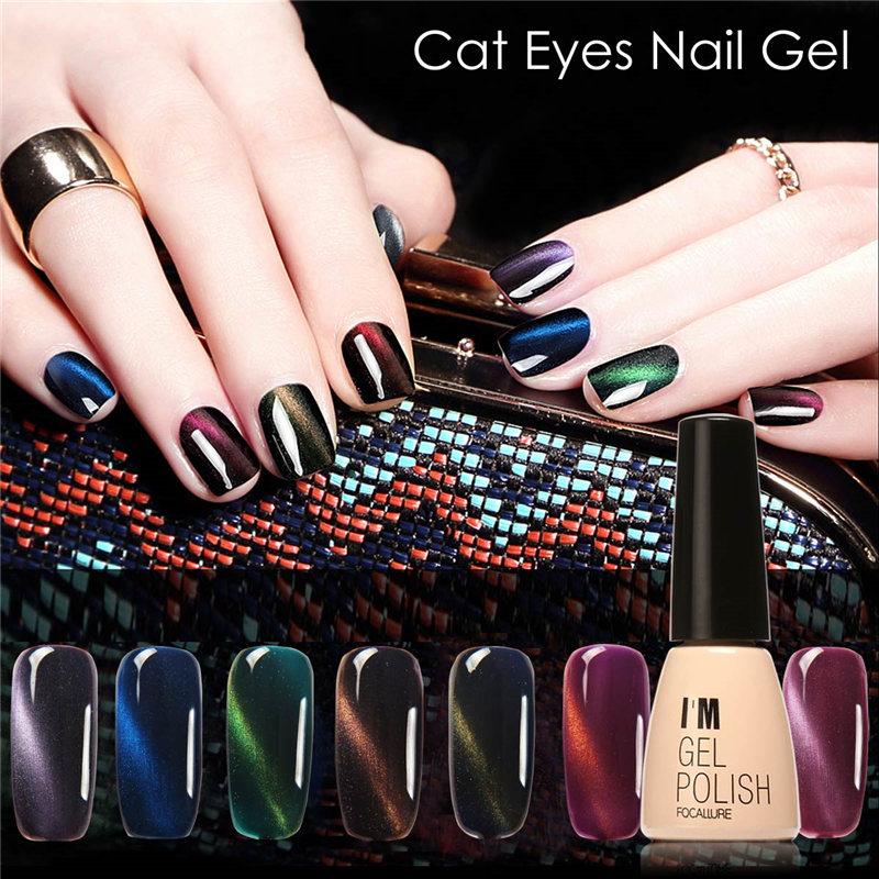FOCALLURE I am Gel Polish Gel Nail Polish Set Magnetic Nail Polish Colors Gel Luckly Varnish Lacquer Cat Eye Nail Gel(China (Mainland))