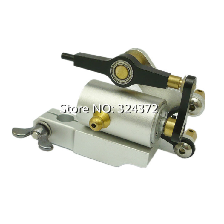 New Arriver 2015 High quality Silver Professional Rotary Tattoo Machine for Shader and Liner Quiet Strong Power Free Shipping &T(China (Mainland))