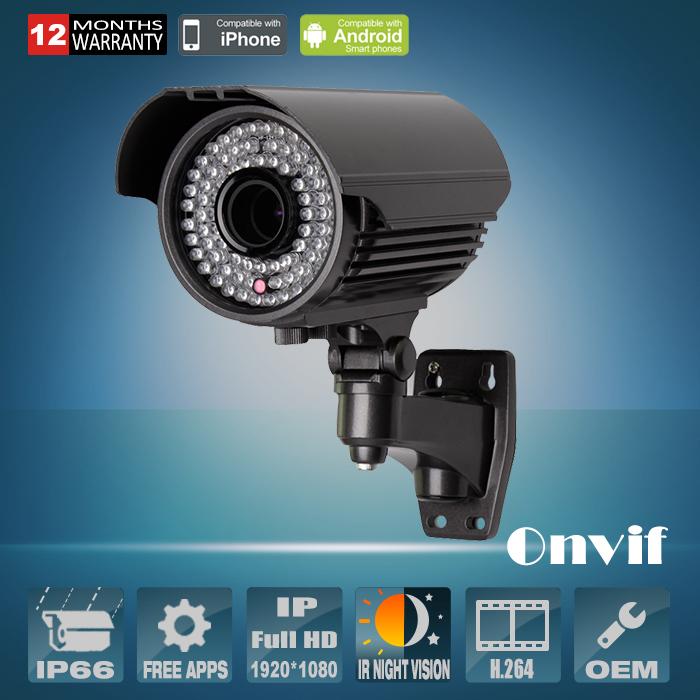1080P Varifocal 2.8-12mm Lens 78 IR H.264 Sony Sensor 25fps Network IP Camera 2MP CCTV Camera Outdoor Waterproof Camera Onvif<br><br>Aliexpress
