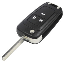 Flip Folding Key Shell for Chevrolet Cruze Remote Key Case Keyless Fob 3 Button Uncut HU100 Blade for Chevrolet LOGO included(China (Mainland))
