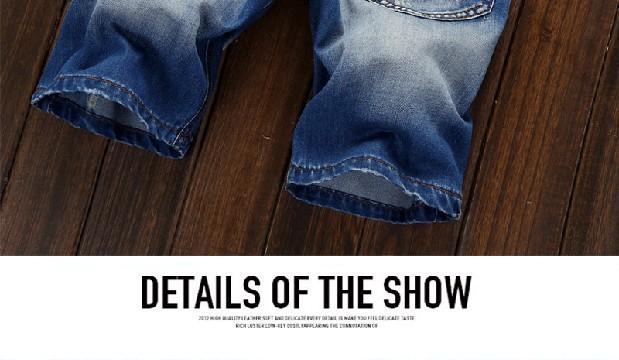 Summer 2016 Fashion hole Ripped Cowboy Shorts Street Men's shorts Zipper Patch Hip Hop Baggy Straight Biker Jeans Homme