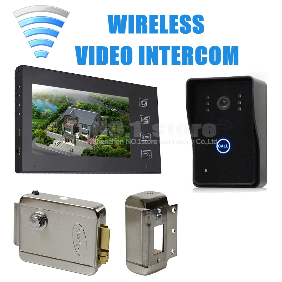 Electronic lock wireless touch key video door phone for Door video camera