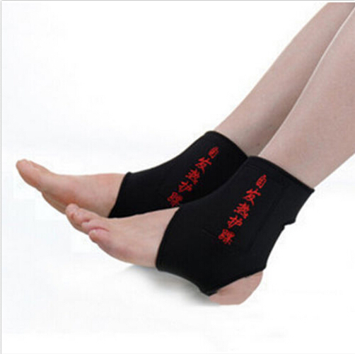 Free Shipping 2x Magnetic Therapy Self-heating Ankle Brace Support Heating Protection Belt Spontaneous(China (Mainland))