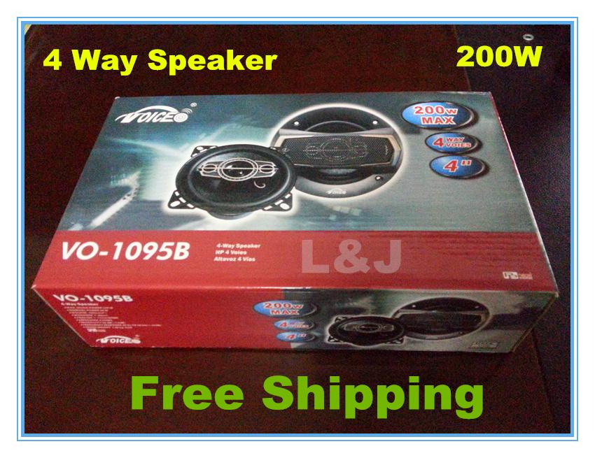 VO-1095B car speaker set 4way woofer car audio tweeter(China (Mainland))