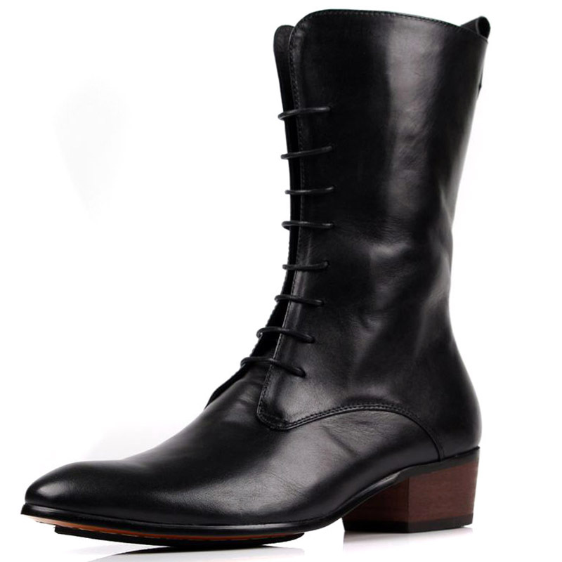 riding boots sale Genuine Leather cowboy Martin shoes boots Black Brown high heel boots fashion western mens dress boots<br><br>Aliexpress