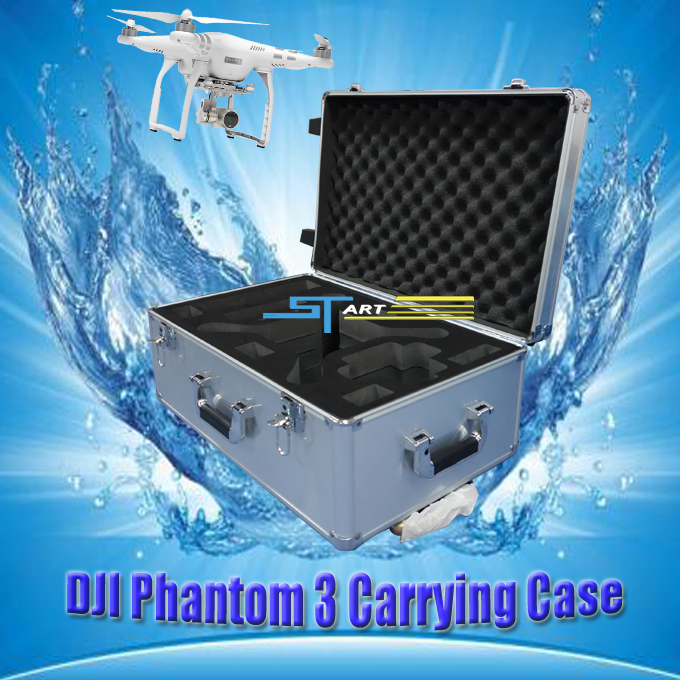 Fashion DIY DJI phantom 3 easy carry box protection bag to carry FPV aluminum box outdoor
