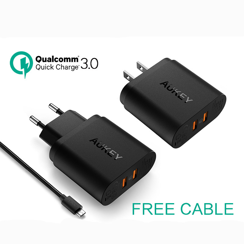 Fast Wall Charger 39W Quick Charge QC 3.0 Travel Charger Turbo AC Dual USB Ports Home Adapter for Samsung LG G5 iPhone EU / US(China (Mainland))