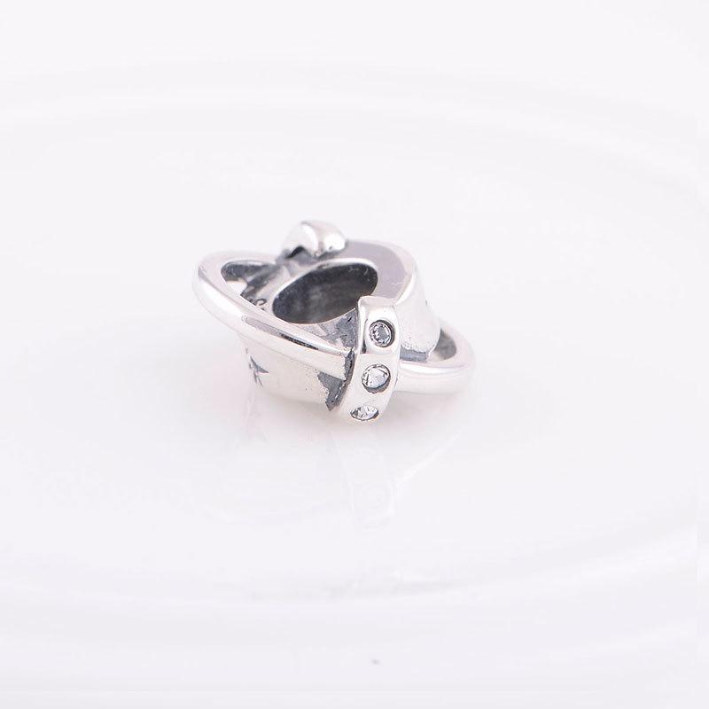 S925 серебряный шарм шарики прокладки бусины подлинная стерлингового серебра 925 подвески для женщин счастливой любви изящных ювелирных изделий x129 z15