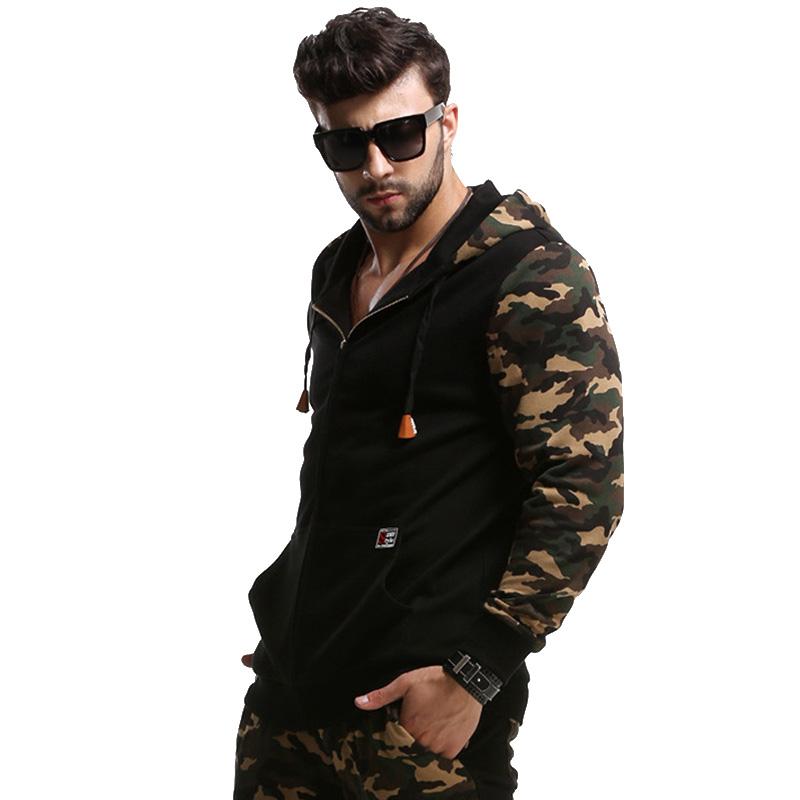 Fashion Military Style Mens Camo Jacket Hi-Street outdoor Slim Fit Hip Hop camouflage Baseball hooded Jacket For Man sportwear(China (Mainland))