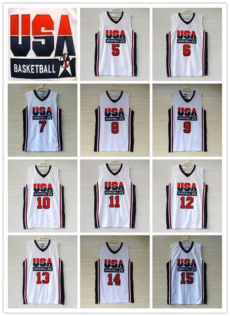 1992 Dream Team Jersey Chicago 9 Michael Jordan Larry Bird White Retro Stitched 92 Olympic Micheal USA Basketball Jerseys Shorts(China (Mainland))