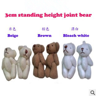 Y93 free shipping 3CM=1.18inch small size cheap mini bear jointed plush stuffed doll bouquet toy wholesale 100pcs/lot<br><br>Aliexpress