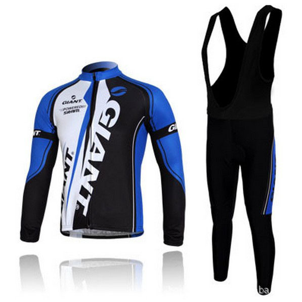 Free shipping!! Giant 2014 Outdoor Winter Cycling Long Sleeve Compression Jersey Coolmax Bib Pants Kit Bike Bicycle Wear Clothes(China (Mainland))