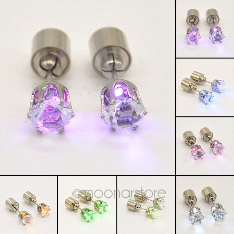 2015 Light Ear Studs Shinning LED Earrings Studs Earrings Shinning Accessories Women Fashion Jewelry PMPJ153*60(China (Mainland))