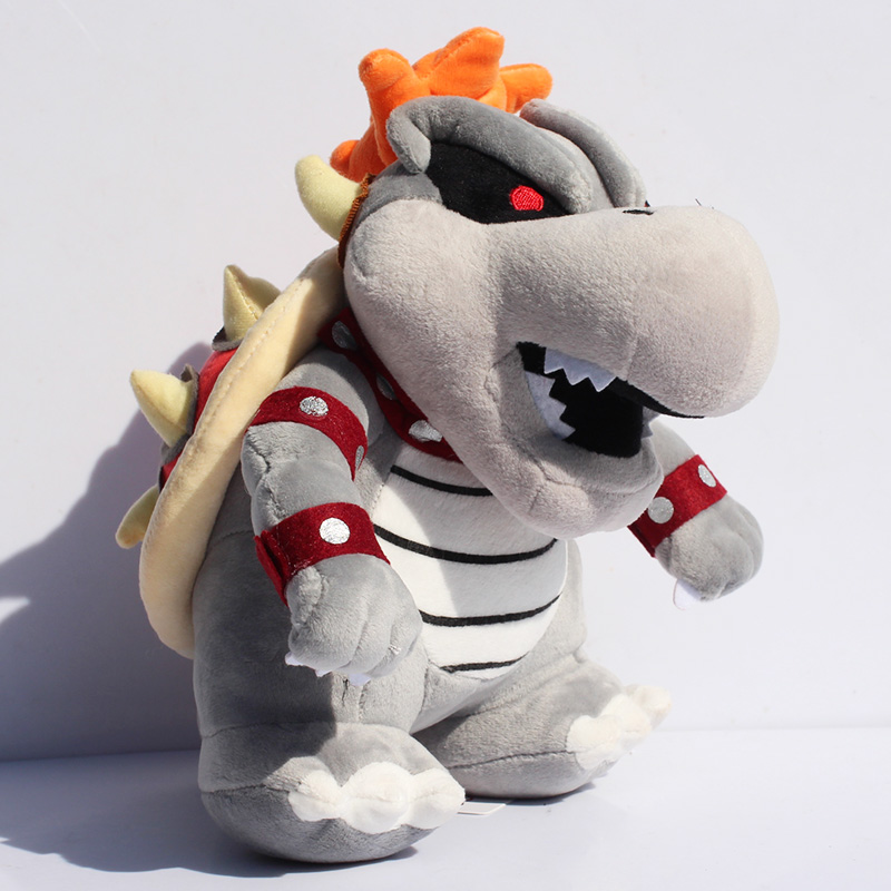 EMS 50pcs/lot 23cm Super Mario Gray King Bowser Koopa Plush Toys With Tag Stuffed Dolls Wholesale<br>
