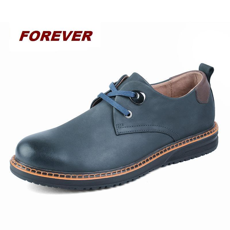 Platform fully genuine leather dress shoes outdoor shoes lace up Oxfords shoes casual men tool shoes  famous brand flat shoes
