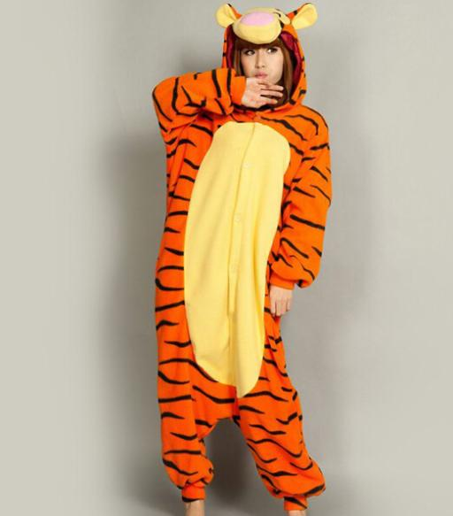 2014 New Rushed Dragon Ball Z Costumes Carnival Costume Promotion!!! Pyjamas Cosplay Costume Lovely Tiger Winter Adult Sleepsuit(China (Mainland))