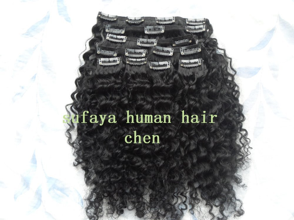 new star malaysia hair extensions sufaya hair products kinky curly clip in  weaves 9pcs 10 -20 inches jet  black color<br><br>Aliexpress