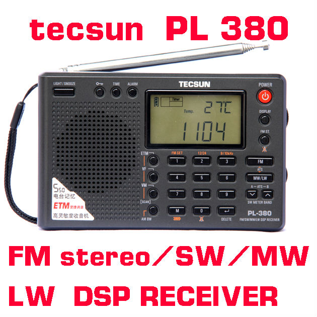 Tecsun PL-380 PL380 radio Digital PLL Portable Radio FM Stereo/LW/SW/MW DSP Receiver Nice(China (Mainland))