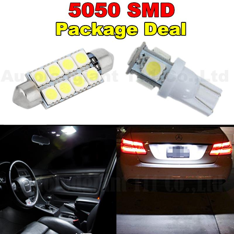 White Led 41MM T10 W5W Led Light For Map Dome Licence Plate Light Package For Lincoln Town Car Navigator Aviator 6pcs(China (Mainland))