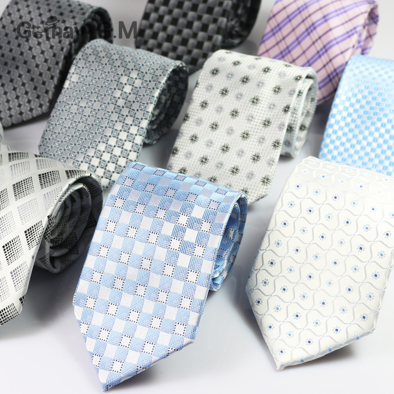 New Brand Plaid Mens ties Fashion Casual Formal Business Neckties for Man Jacquard Woven Gentlemen Wedding Party Tie(China (Mainland))