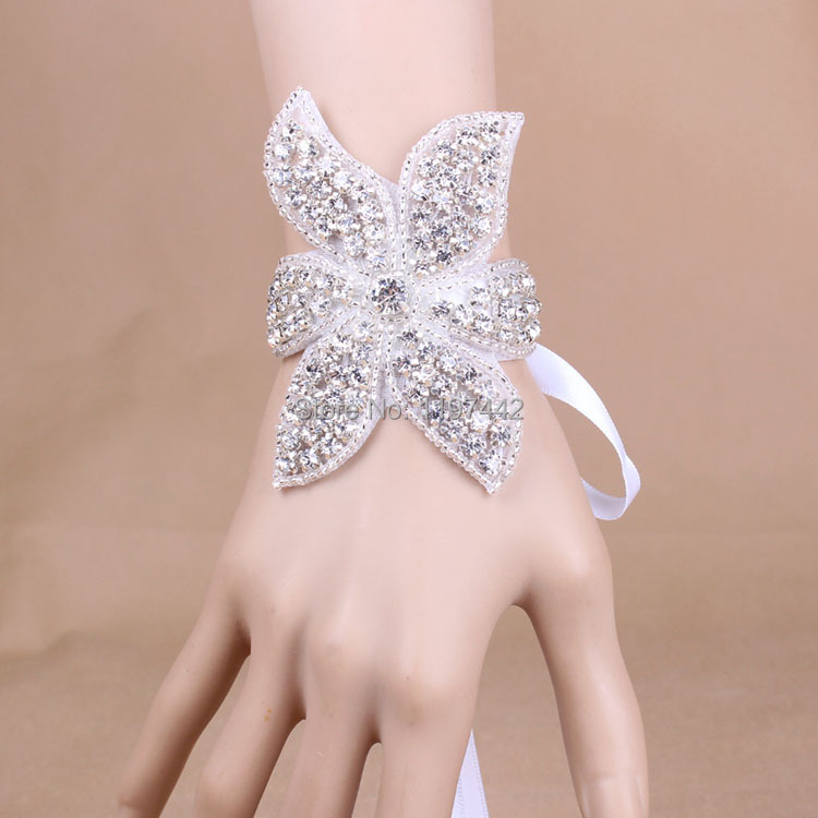 Wholesale wedding hand jewelry handmade crystal beads bracelet luxury bridal wedding accessories gift pulseras XI05(China (Mainland))