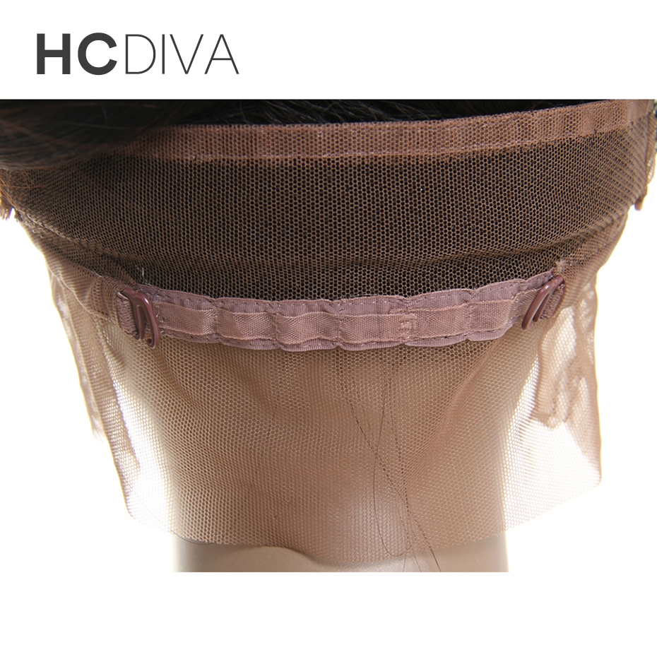 HCDIVA Straight Pre Plucked 360 frontal Closure with Baby Hair (22*4*2) Natural Black Brazilian Non Remy Human Hair Extensions