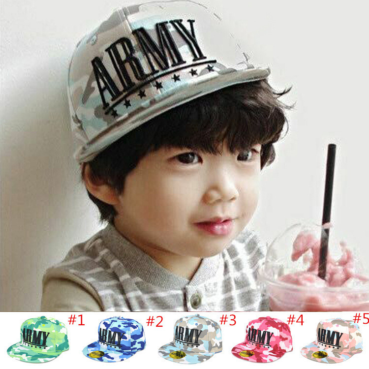 Fashion Camoflag Children Baseball Cap Toddler Kids ARMY Baseball Hat Spring Autumn Boy Girl Sun Hat 5pc/lot MZC-15123(China (Mainland))
