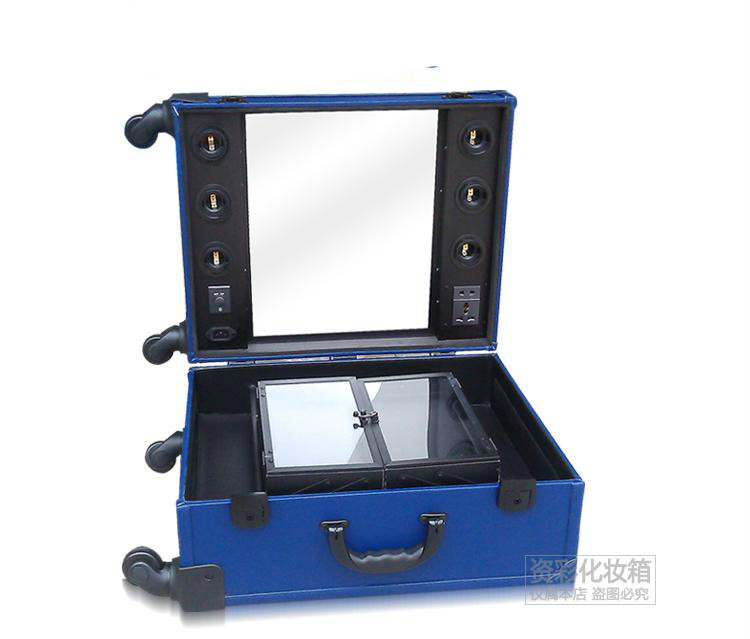professional makeup trolley with lights vanity box makeup studio with. Black Bedroom Furniture Sets. Home Design Ideas