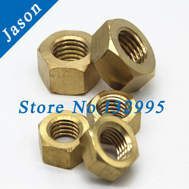 Brass nut M2.5 Brass hex nut Metric Thread(China (Mainland))