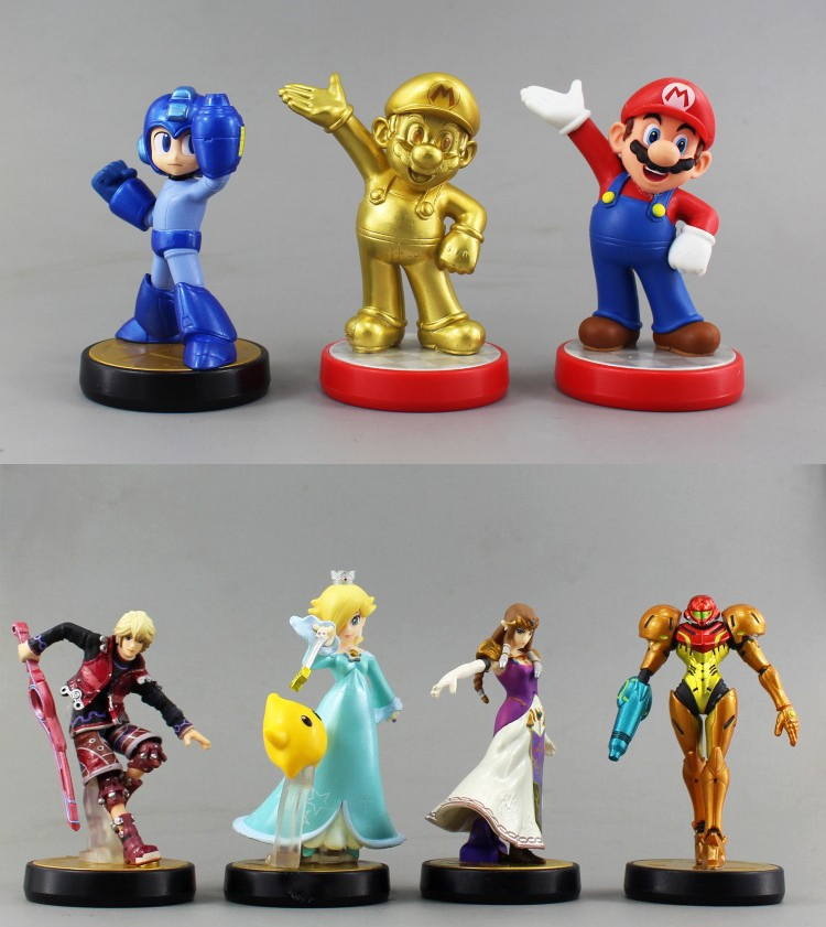 2015 new arrival Amiibo Anime Figure WiiU 3ds NFC model Japanese version pokemon toy Wario action figure Super Mario Decoration(China (Mainland))