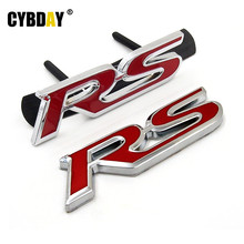 3D Metal RS Grille Emblem Sticker Badge Car Styling For Ford Focus Chevrolet cruze Kia Rio Skoda Octavia Mazda VW Hyundai Opel(China (Mainland))