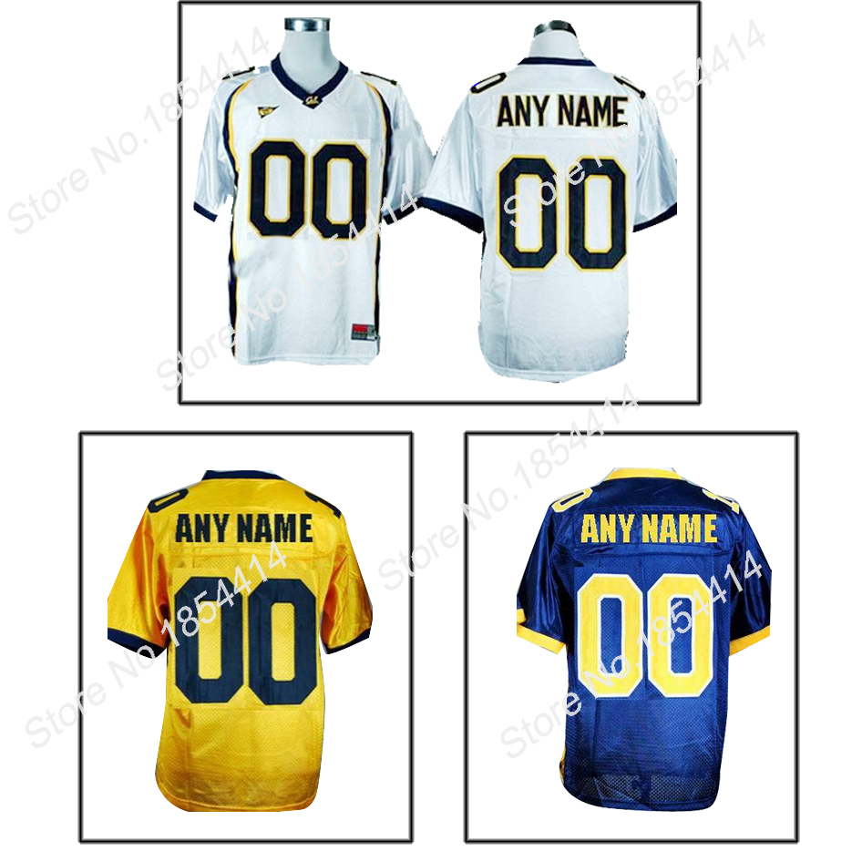 Customize California Golden Bears Your Name No Personalized College Football Authentic Jerseys Custom 4XL 5XL 6XL NCAA Jerseys(China (Mainland))