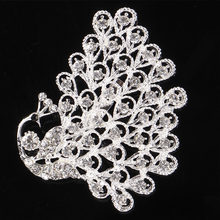 Lnrrabc Fashion Wanita Mewah Merah/Biru Berlian Imitasi Mawar Bunga Bros Pin Pernikahan Gaun Pengantin Aksesoris Perhiasan Bros Mujer(China)