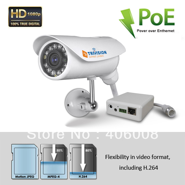 POE Onvif 2 megapixel 1080p ip camera hd waterproof outdoor with free app on iphone, Android smartphone &  PC + Free shipping