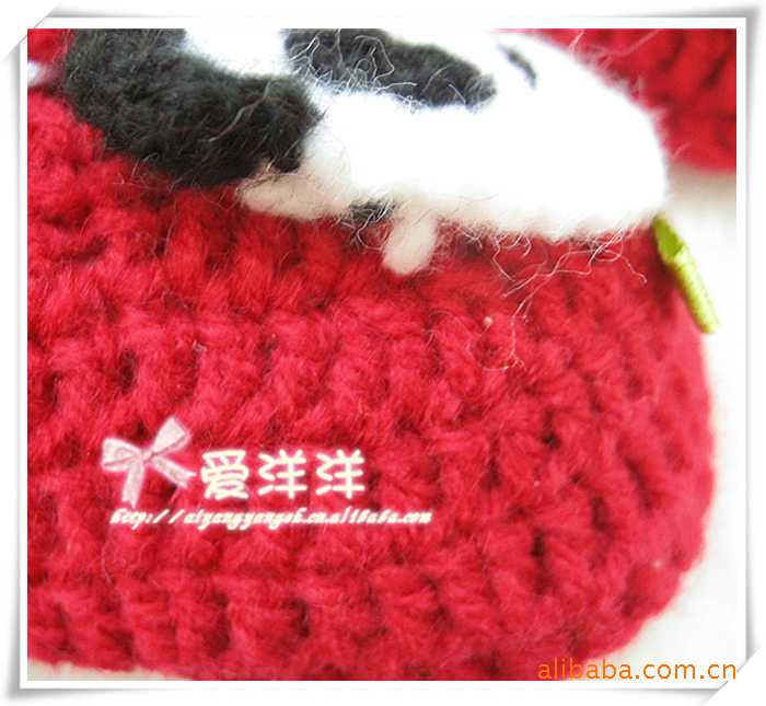 Factory supply 2014 new hand- knitted baby panda cute baby shoes Recruitment Agent(China (Mainland))