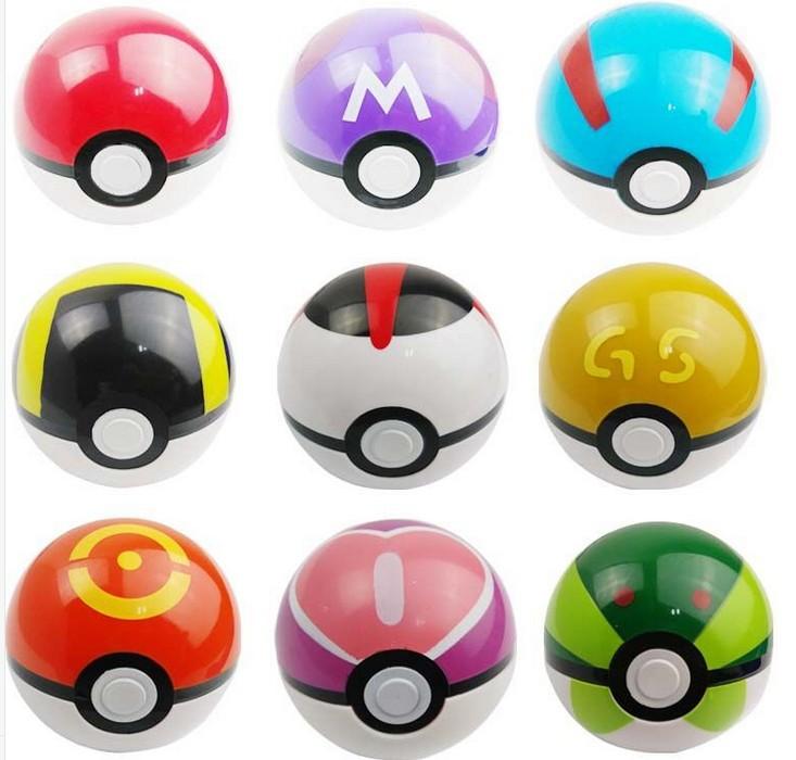 9pcs set Super Master Pokemon Ball Figures font b Anime b font Action Figures Pokemon PokeBall
