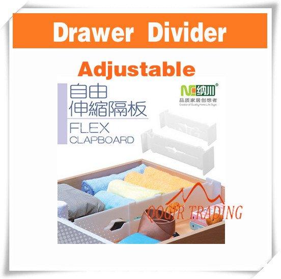 New white r glable extensible tiroir diviseur organisateur - Organisateur tiroir cuisine ...