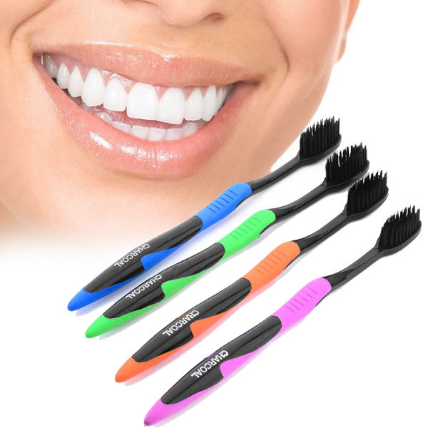 2017 Hot Sale 4Pcs/Lot Bamboo Charcoal Toothbrush Wholesale Cheap Dental Care Soft Toothbrush Bamboo Charcoal Brush Oral Care