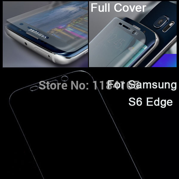 Ultra-thin LCD Screen Protector Arc Full Cover Protective Guard Film for Samsung Galaxy S6 Edge / G9250 Tempered Glass(China (Mainland))