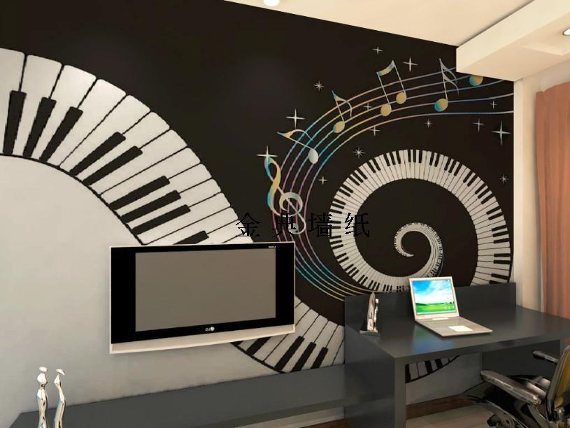 New Design Embossed Kids Wallpaper Black And White Tv The