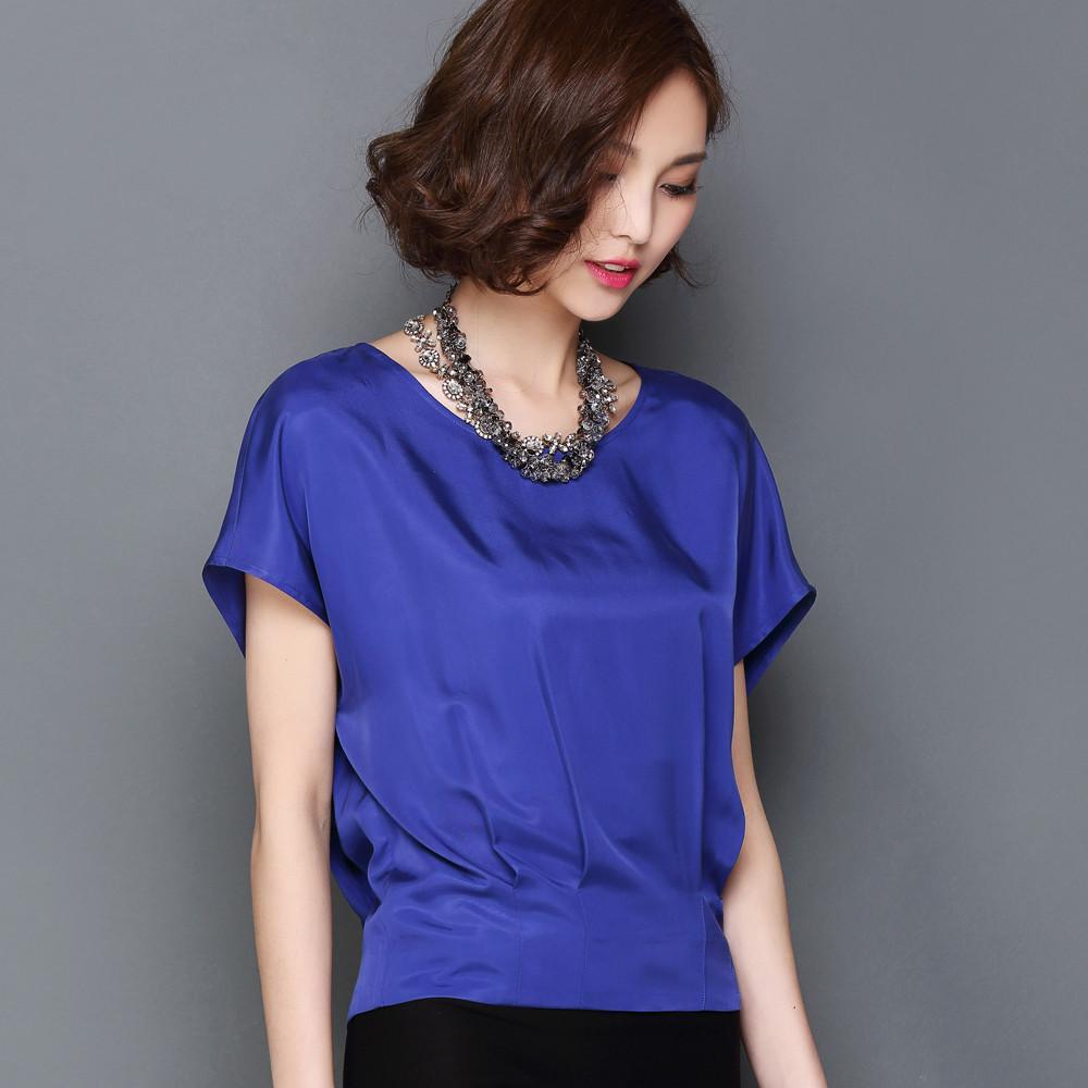 Women'S Plus Size Silk Blouses 46