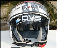 3 4 harley Pilot helmet JIX OP01 Double lens motorcycle electric bicycle helmet bimirror professional