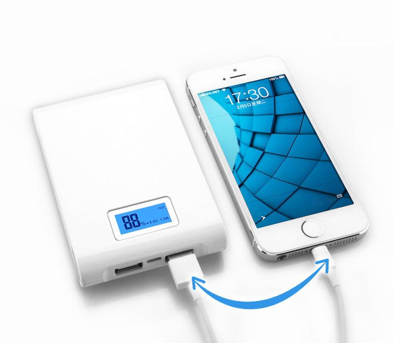 DCAE Power Bank Real 12000mAh Dual USB Lcd Display Led External Backup Battery Portable Charger powerbank for xiaomi iphone 5 6S(China (Mainland))