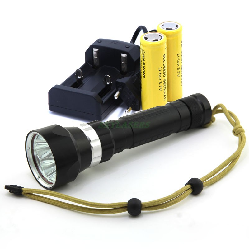 2016 New Waterproof Underwater Led Light 100m Diving 4 CREE XM-L2 Led Diving Flashlight Torch with 2*26650 Battery & Charger(China (Mainland))