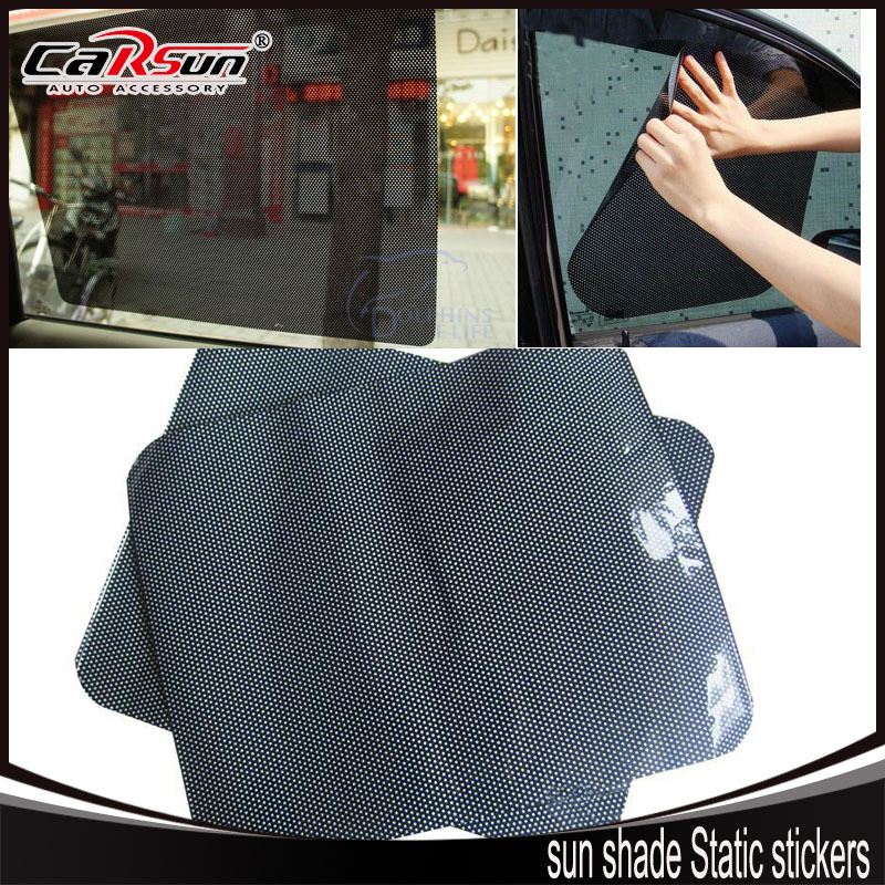 38*42cm 2 Tablets Air Black Grid Car sun shade Static stickers Ultraviolet-proof Sunscreen Insulation Good light Transmission(China (Mainland))